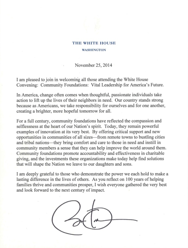presidents message community foundations